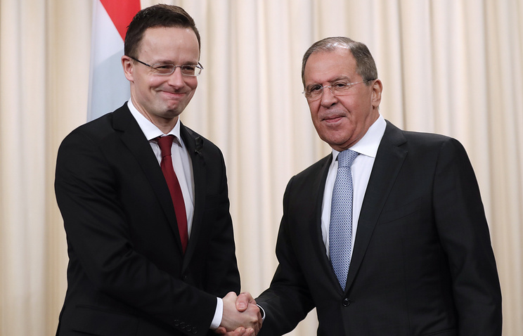 Hungarian and Russian Foreign Ministers, Peter Sijjarto and Sergey Lavrov