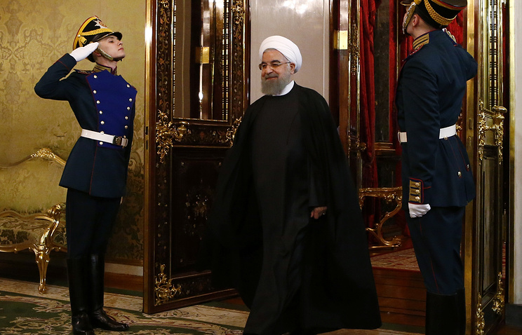 Iranian President Hassan Rouhani in Moscow's Kremlin