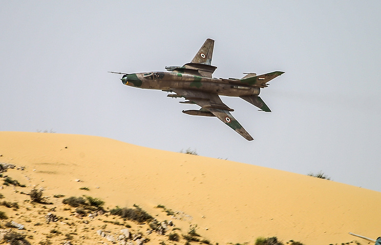 A Syrian Air Force jet
