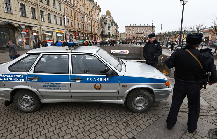Police officers in St. Petersburg
