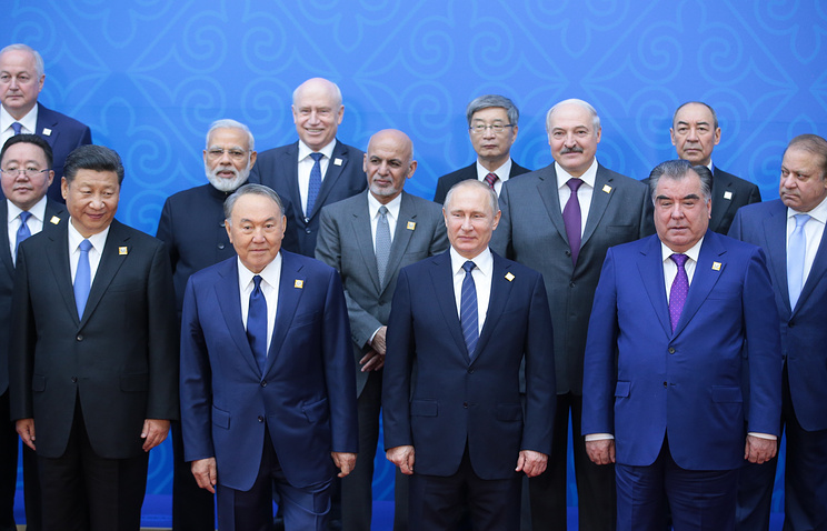 A meeting of the Shanghai Cooperation Organisation Heads of State Council