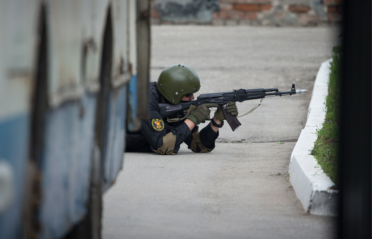 Anti-terrorist drills of the Russian Federal Security Service special forces