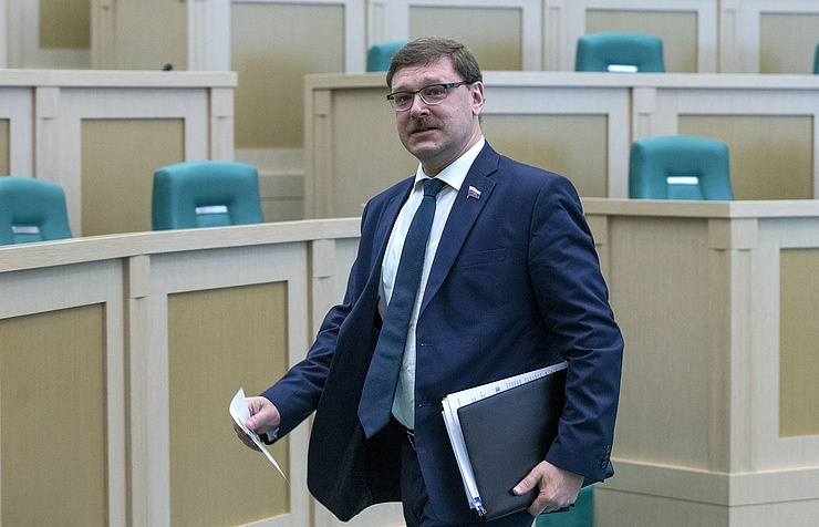 Konstantin Kosachev, the head of the Russian Federation Council (upper house) Foreign Affairs Committee