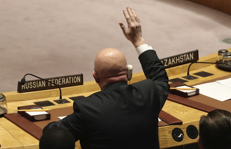 Russia Vetoes UN Resolution To Extend Syrian Chemical-Weapons Probe