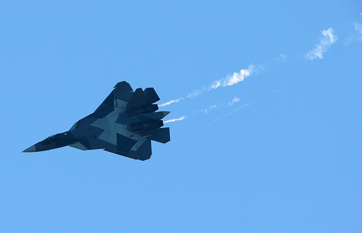 Russia's Su-57 fifth-generation stealth air superiority fighter