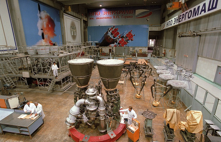An RD-180 rocket engine