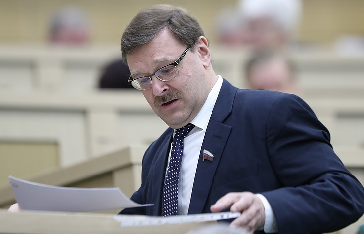 Konstantin Kosachev, the chairman of foreign policy committee in the upper house of Russian parliament