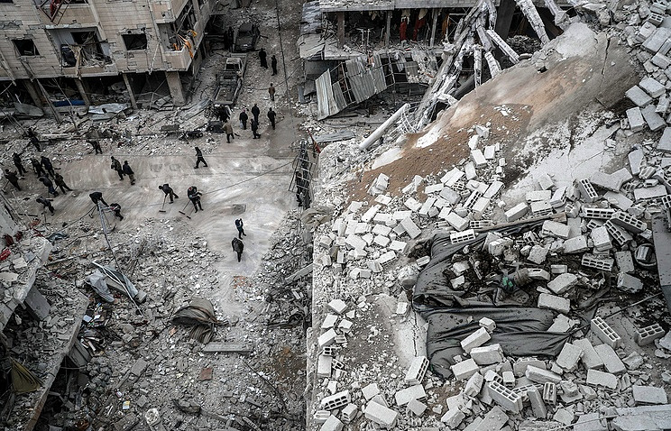 Nearly 1400 Syrian civilians killed in February