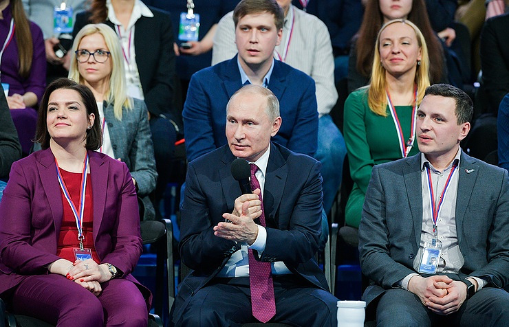 Vladimir Putin at the Truth and Justice Media Forum