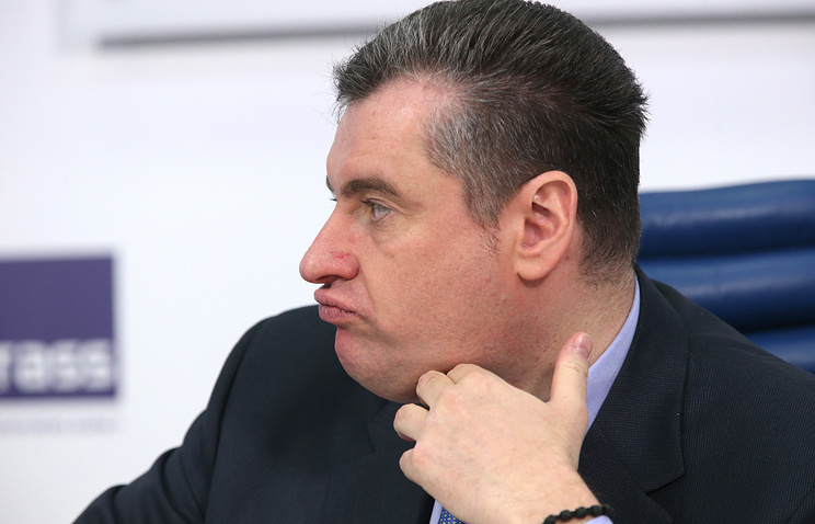 Chairman of the State Duma's Foreign Affairs Committee Leonid Slutsky