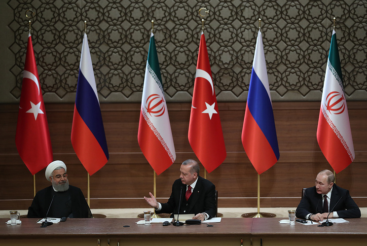 Leaders of Russia, Turkey and Iran convene on regional security issues
