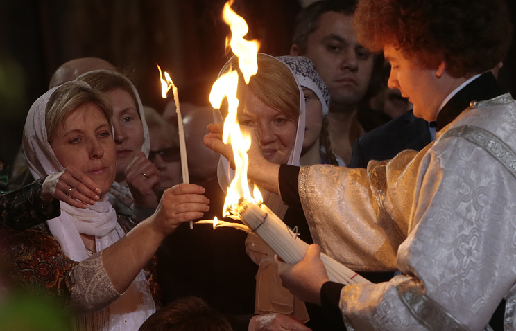Orthodox Christians hold 'Holy Fire' ceremony in Jerusalem