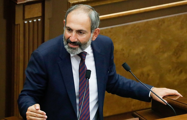 Armenia's opposition leader Nikol Pashinyan