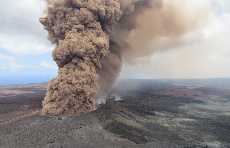 Hawaii volcano erupts from summit, sends huge plume into sky