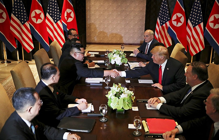 Watching coverage of the Trump-Kim summit