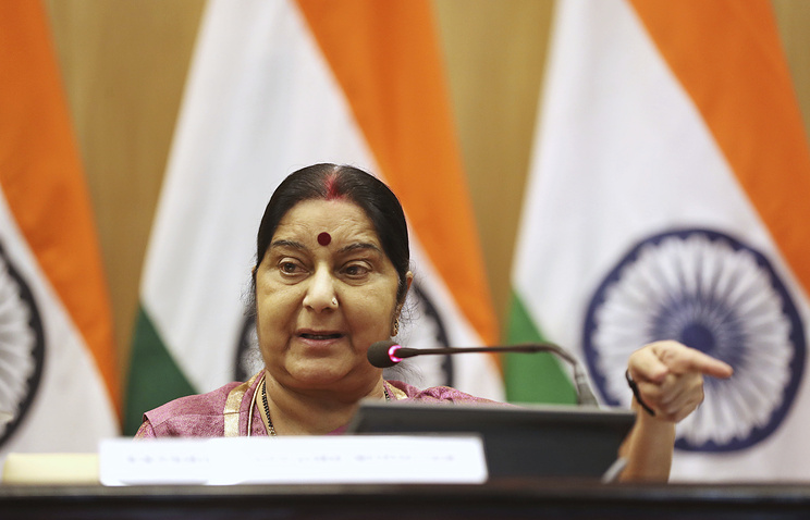 Indian Minister of External Affairs Sushma Swaraj