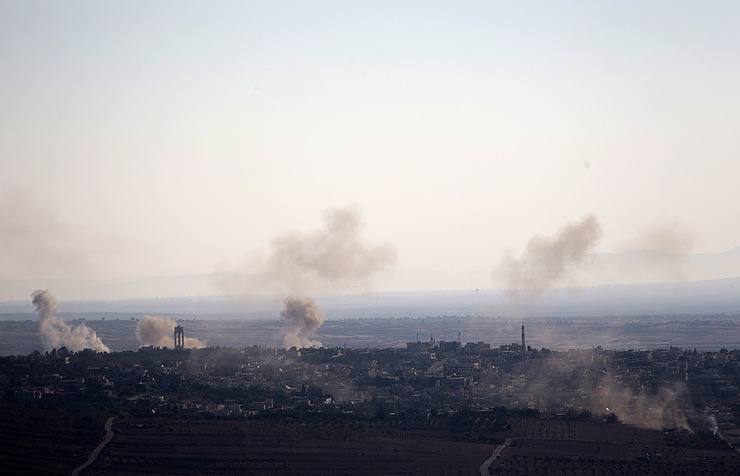 Air strikes pound IS holdout in south Syria: monitor