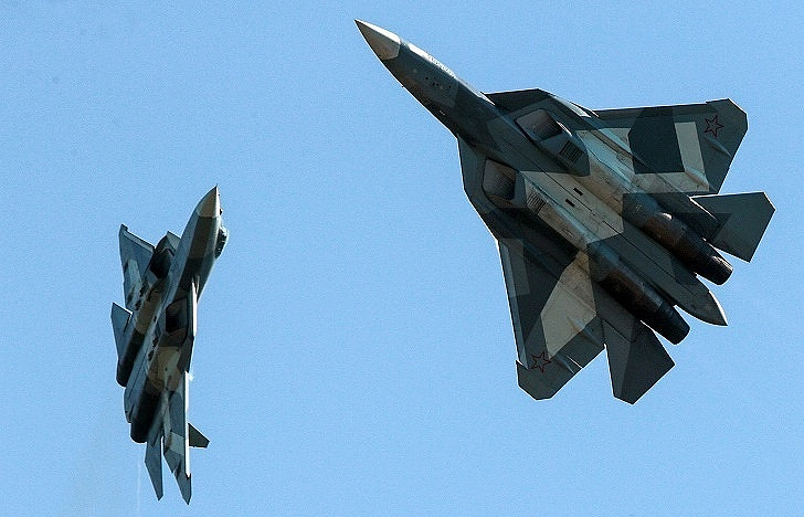 Su-57 fighter jets