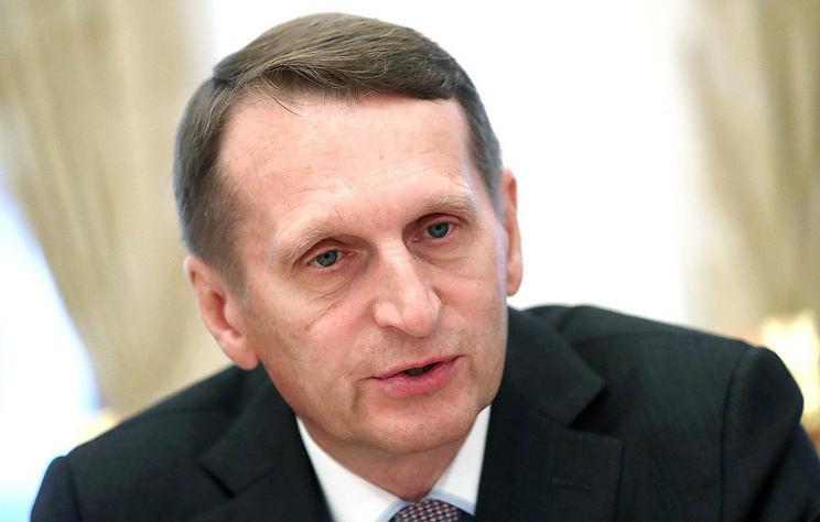 Sergei Naryshkin, chief of the Russian Foreign Intelligence Service