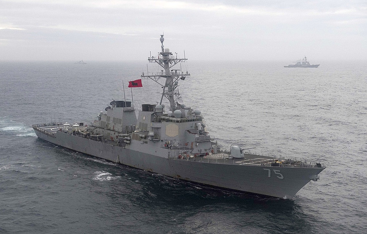 The guided-missile destroyer USS Donald Cook