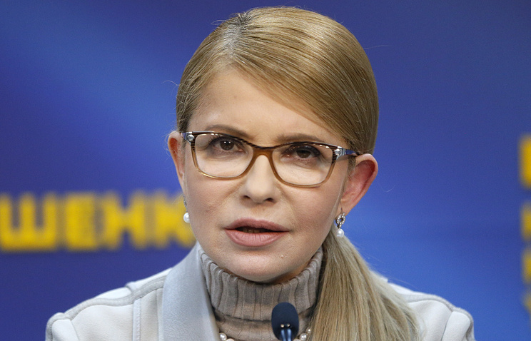 Leader of Ukraine's Batkivshchyna Party Yulia Timoshenko