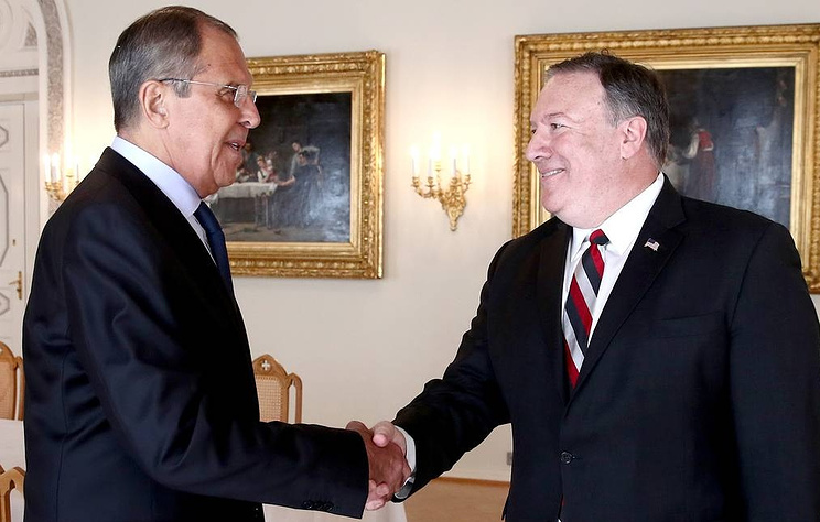 Foreign Minister Sergey Lavrov and US Secretary of State Michael Pompeo