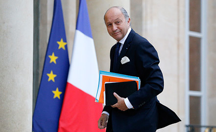 French Foreign Minister Laurent Fabius. Photo EPA/YOAN VALAT