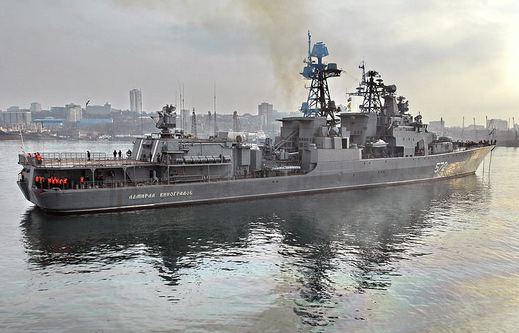 Russian Pacific Fleet destroyer Admiral Vinogradov