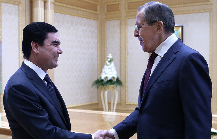 Foreign Minister of Turkmenistan, Rashid Meredov and Russian Foreign Minister Sergey Lavrov
