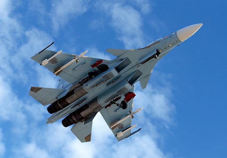 Sukhoi Su-30SM fighter  Vadim Savitskiy/Russia's Defense Ministry's press-service/TASS