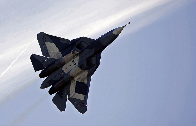 The Sukhoi PAK FA (T-50) multirole twin-engine jet fighter Sergei Bobylev/TASS