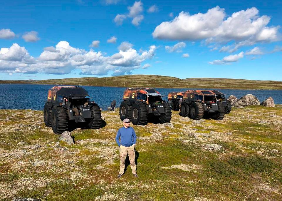 During an expedition using Sherp all-terrain amphibious vehicles, 2019 Personal archive of Leonid Boguslavsky