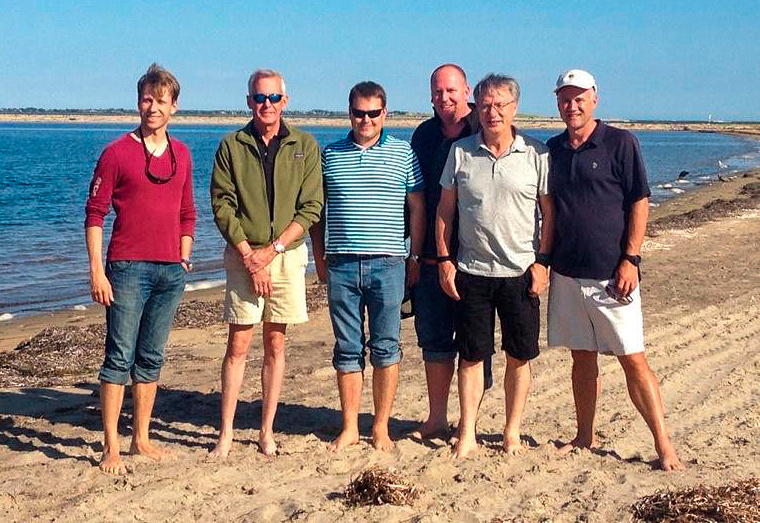 With Almaz Capital partners on Nantucket Island, 2016 Personal archive of Alexander Galitsky
